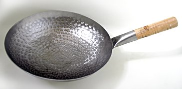 Handhammered Carbon Steel Pow Wok