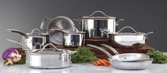 Kirkland Signature 13-Piece Tri-Ply Clad Cookware Set