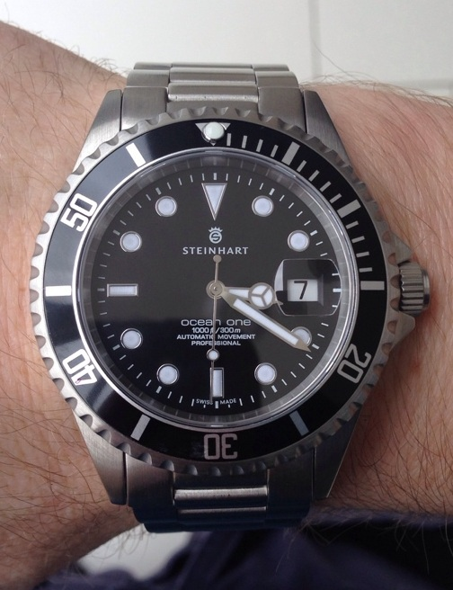 Steinhart Ocean 1 Black Submariner homage James Bond