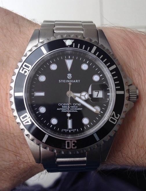 Steinhart Ocean 1 Black Submariner homage James Bond