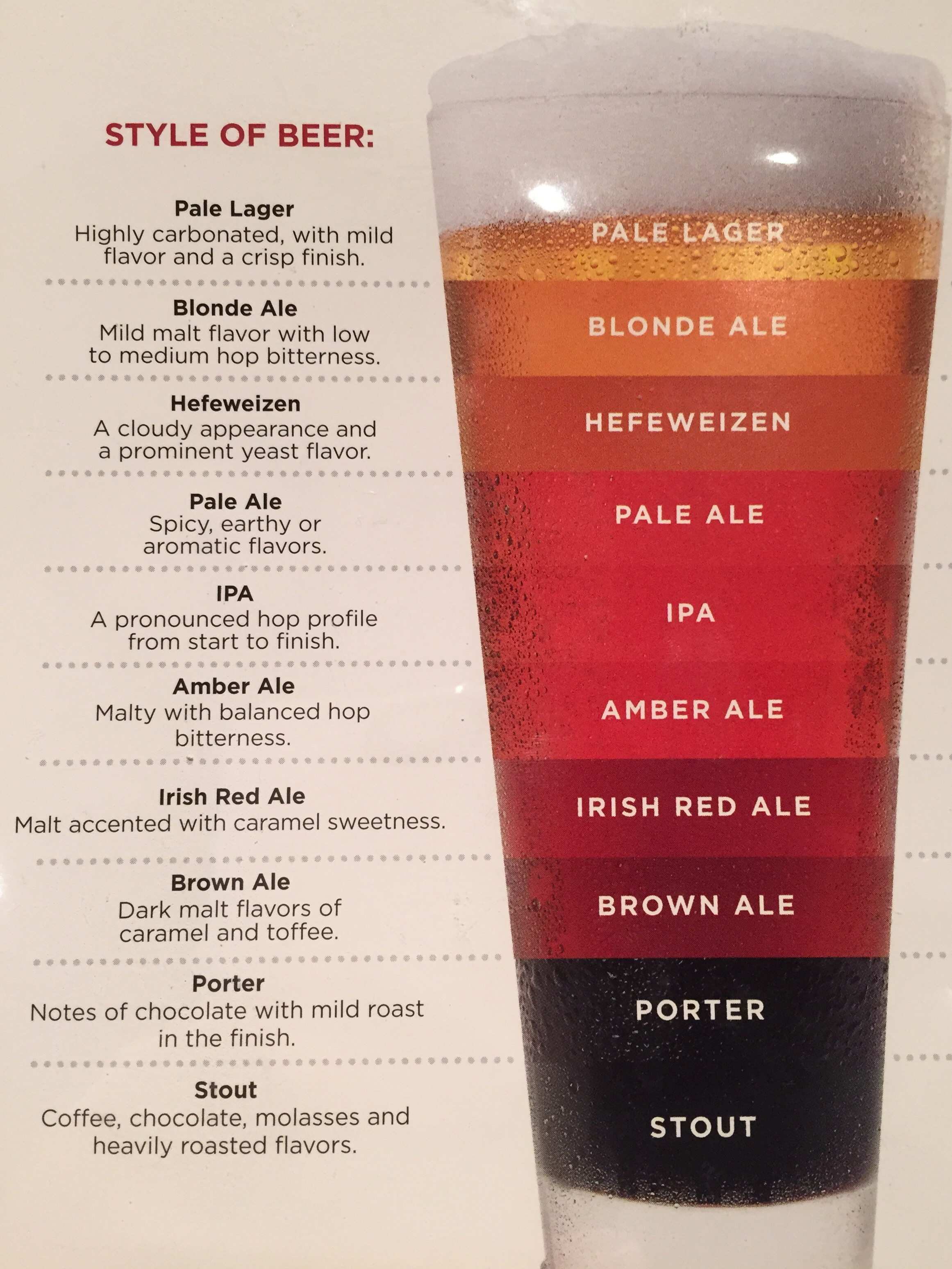 Styles and Flavors of Beer