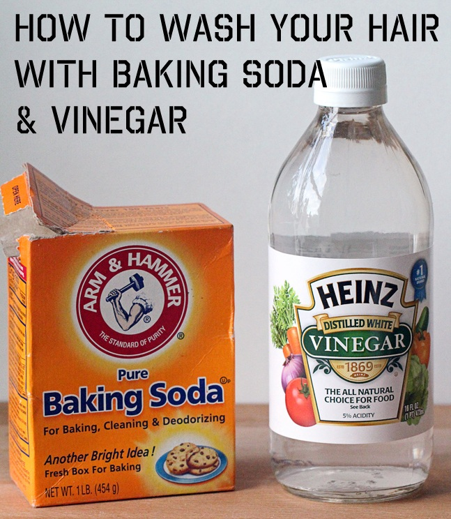 Wash Hair Nopoo ACV Baking Soda
