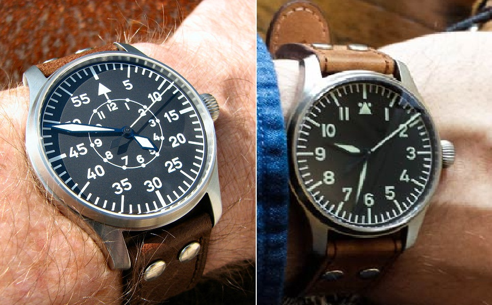 Flieger B Dial and A Dial