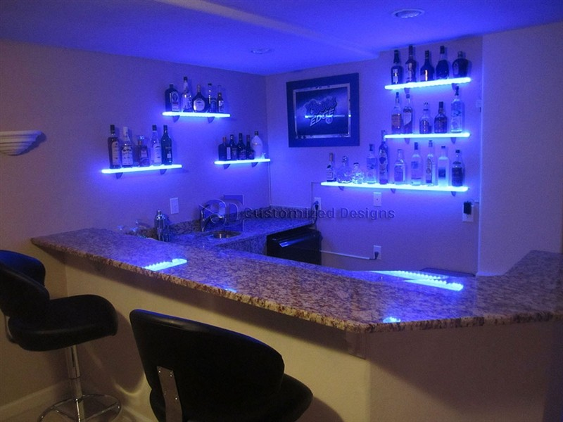 Customized Designs LED Shelving
