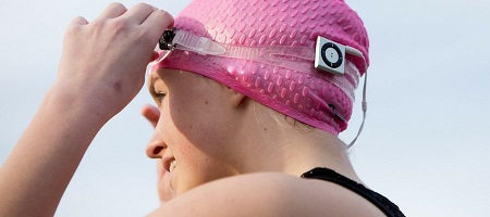 Waterproof ipod mp3 player swim swimbuds